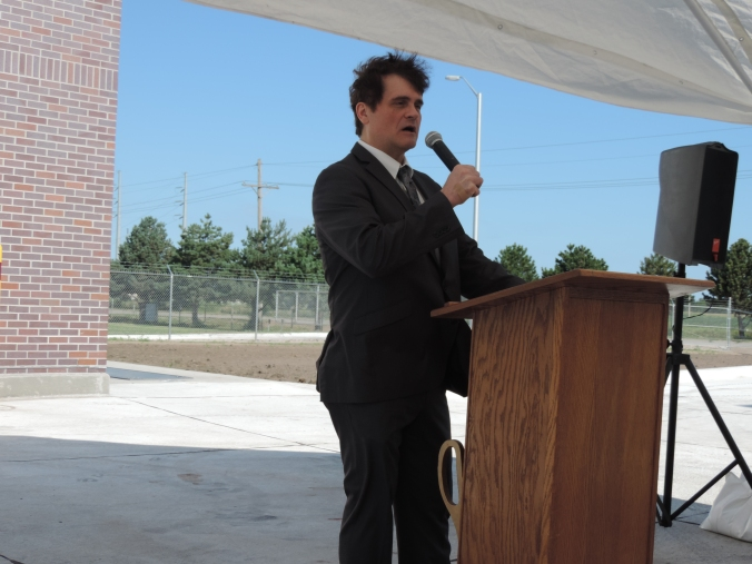 John Collins host ribbon cutting ceremony for the new head work.